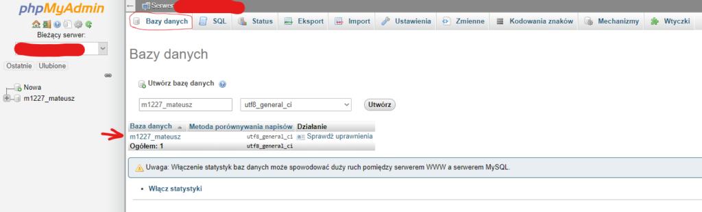 MySQL kopia zapasowa