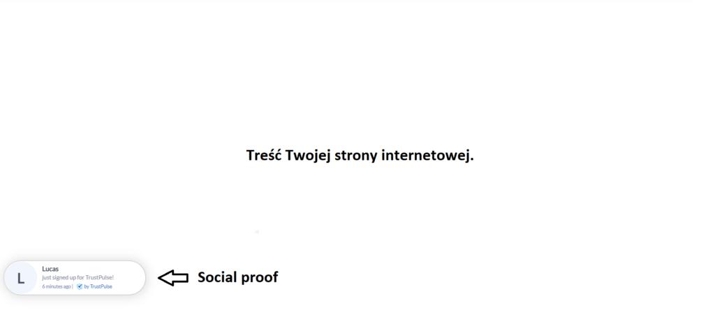 Social proof - powiadomienia w czasie rzeczywistym