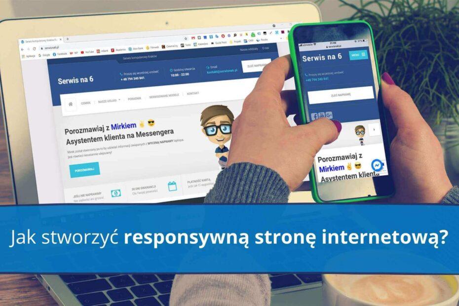 Widok responsywnych stron internetowych