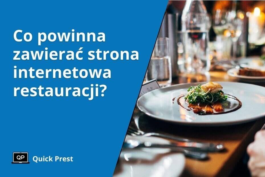 Firmowa strona internetowa dla restauracji